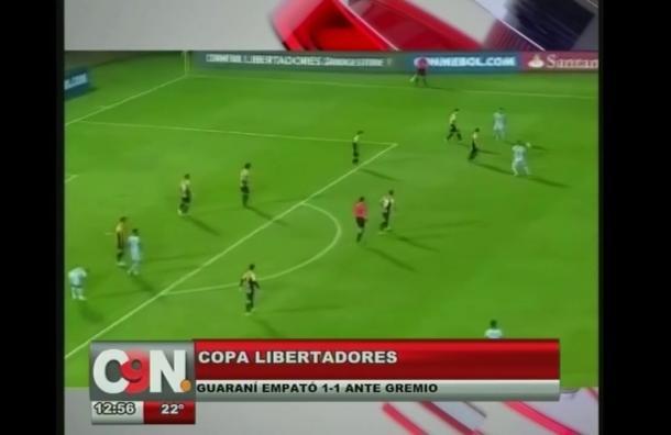 Guaraní empató ante Gremio en Copa Libertadores