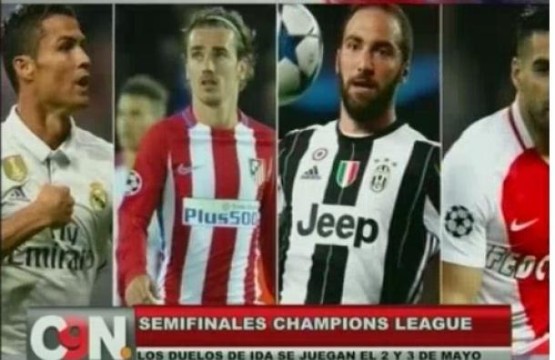 Realizaron sorteo de semifinales de Champions League