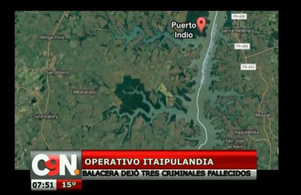 Operativo en Itaipulandia dejó tres delincuentes fallecidos