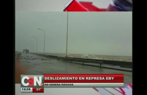 Deslizamiento en represa Eby