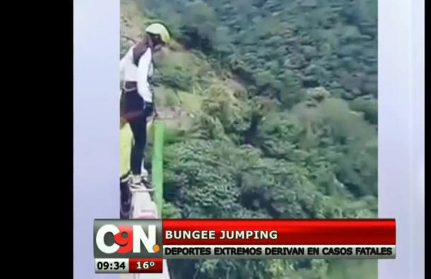 Salto en Bungee Jumping terminó en un gran susto