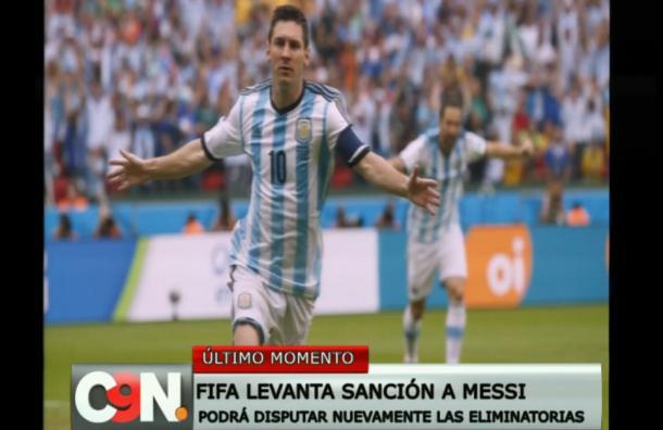 FIFA levantó sanción a Lionel Messi