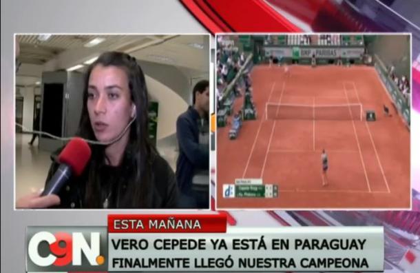 [Deporte] Verónica Cepede retornó a Paraguay tras su participación en el Roland Garros