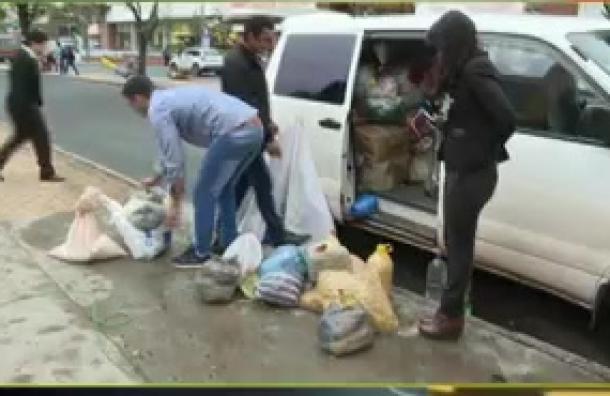 Camioncito llegó con ayuda desde Caazapá