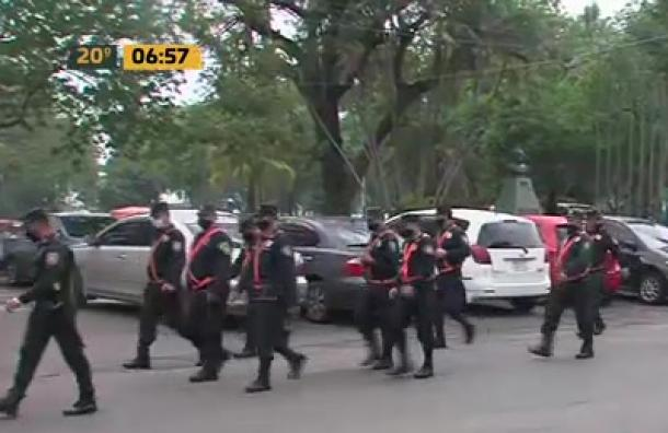 Gran dotación policial ante movilización campesina